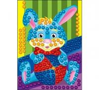 Мозаика из пампонов Зайчик с мячом Формат А4